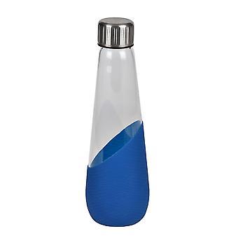 Polar Gear Aquarius Borosilicate Glass Bottle, Scandi Blue