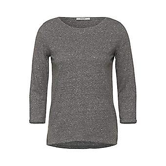 Cecil 315465 T-Shirt, Melange Mineral Grey, XL Woman