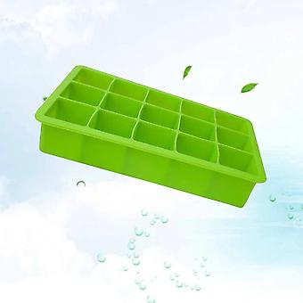 19.5cm Cavities Ice Cube Cake Mold DIY Silicone Ice Brick Mould for Ice Cupcake Fondant (Green)