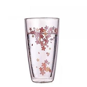 Japanese Cherry Blossom Double Glass Tumbler
