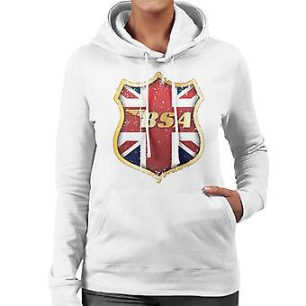 BSA Golden Logo Union Jack Badge Women's Hooded Sweatshirt