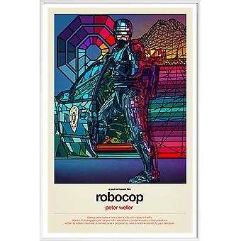 JUNIQE Print -  Robocop - Filme Poster in Bunt