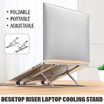 المحمولة للطي المحمولة موقف حامل موقف دفتر قابل للتعديل لmacbook حصان lapdesk الألومنيوم سبيكة الكمبيوتر الكمبيوتر قوس التبريد