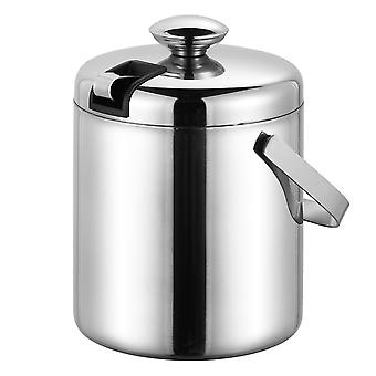 Homemiyn Insulated Ice Bucket Portable Wine Champagne Bucket With Lid Chills Drinks Stainless Steel