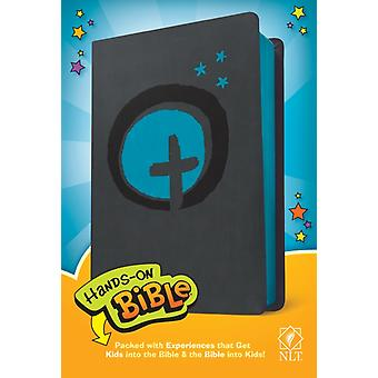 NLT HandsOn Bible LeatherLike Dark GrayBlue Cross by Selected by Group Publishing & Edited by Tyndale