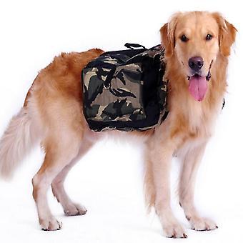 Cadela de saco de cachorro sela sela camuflagem grandes transportadoras de viagens para caminhadas