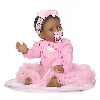 اليدوية لينة السيليكون تولد من جديد دمى الفينيل نابض بالحياة محاكاة طفل حديث الولادة الأميرة دمية لعب لعيد ميلاد الأطفال