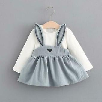 Rabbit Toddler Baby Girls Dress Casual Dresses Kids Easter Clothes