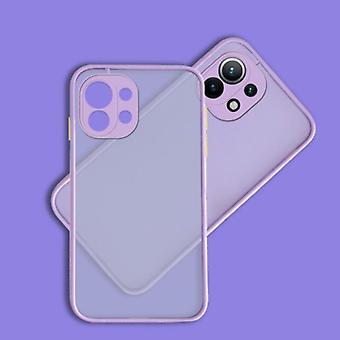 Balsam Xiaomi Mi 11 Lite Case with Frame Bumper - Case Cover Silicone TPU Anti-Shock Purple