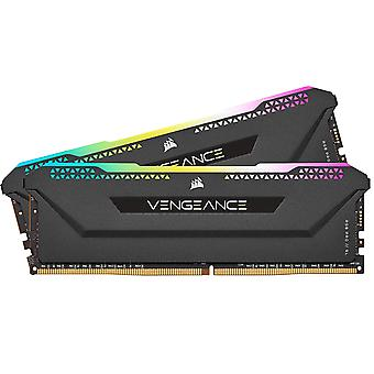 Corsair Vengeance RGB Pro SL 32GB Memory Kit (2 x 16GB), DDR4, 3600MHz (PC4-28800), CL18, XMP 2.0, Black, Ryzen Optimised