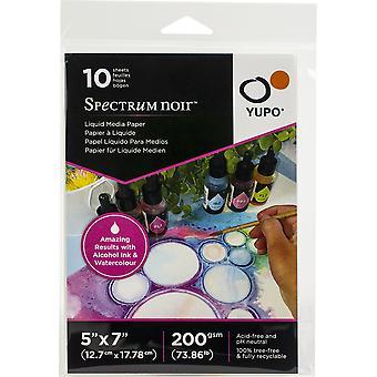 "Spectrum Noir Yupo Liquid Media Paper 73.86lb 10/Pkg - 5""X7"""