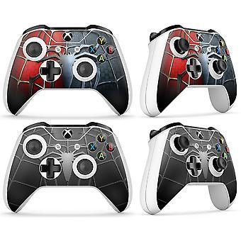 GNG 2 x Spider kompatibel med Xbox One S-kontrollerskall med vinylklistremerke i full wrap