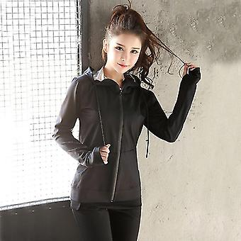 Women Running Suit Slimming Body Shaper Pants And Long Sleeve Jackets