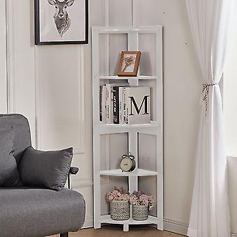 5 Tier Corner Regal Freistehende Ventilator Form Bücherregal Pflanzenständer