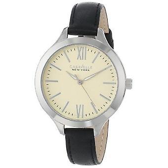 Caravelle New York Women's 43L164 Analog Display Japanese Quartz Black Watch