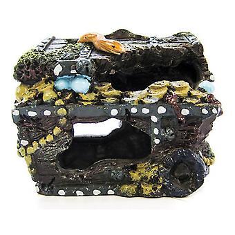 "Penn Plax Treasure Chest Aquarium Decor - Petit (4.5 «L x 3.25""L x 3.5 «H)"