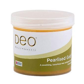 DEO Pearlised Gold Depilatory Wax Lotion för Premium Waxing - 425g
