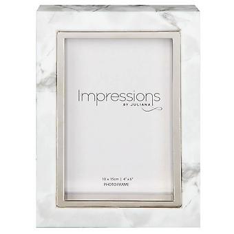 Juliana Impressions Marble Look Frame 4x6 - White