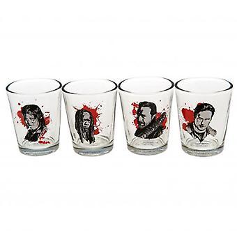 The Walking Dead 4pk Shot Glass Set CH