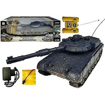 Rádiem řízený armádní tank - T-90 - Černý - s infračerveným zářením - 26 cm
