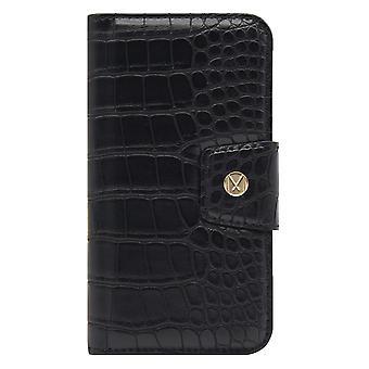 iPhone XR Marvêlle Magnetiskt Skal & Plånbok Svart Krokodil