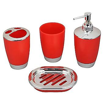 Soap dishes holders bathroom accessories bathroom set plastic bathroom suit home accessories cup toothbrush holder red
