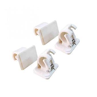 4pcs Selbstklebender Vorhang hängende Stangenhalterungen Organisierte Stangenhalter Badezimmer Zimmer Handtuch Bar Haken