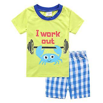 Kinder Jungen Sommer Outfit Kurzarm T-Shirt Top Shorts Set Kleidung