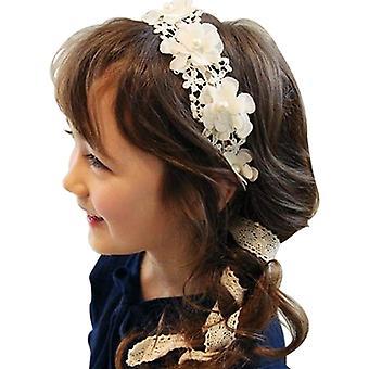2pcs perle blonder hår pannebånd for bryllup blomst jente, bursdagsfest foto rekvisitt