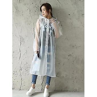 Womens Transparent Eva Plastic Raincoat