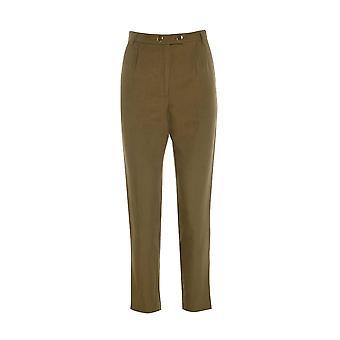 Topshop Khaki Cigarette Pleated Trousers TRS236-12