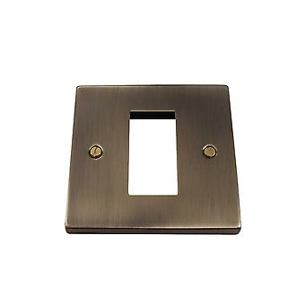 Causeway 1 Gang Single Modular Plate, Antique Brass