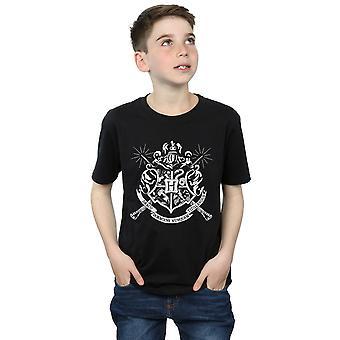 Harry Potter jungen Hogwarts Abzeichen Zauberstäbe T-Shirt