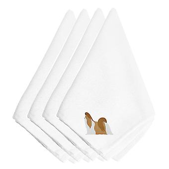 Carolines schatten BB3446NPKE Shih Tzu geborduurde servetten Set van 4