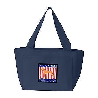 Carolines Treasures  BB3288NA-8808 USA Patriotic Pharaoh Hound Lunch Bag