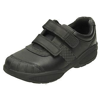 Garçons Clarks érafler Protection formelles chaussures Jonas Glo - cuir noir - taille de la UK 8G - UE taille 25,5 - US taille 8.5W