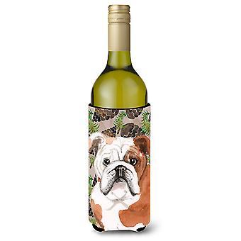Bulldog Inglês Pine Cones garrafa de vinho Beverge isolador Hugger