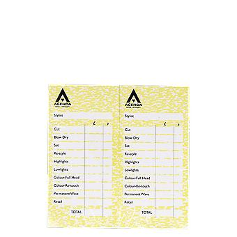 Agenda Yellow Check Pads (Pack Of 12)