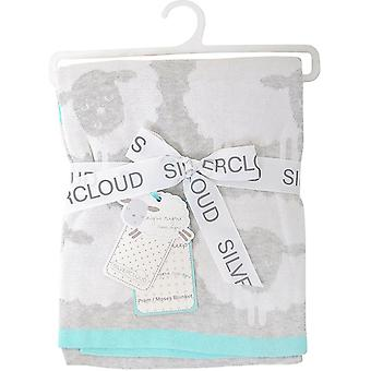 Silver Cloud Counting Sheep Knitted Pram Blanket