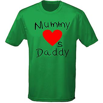Daddy Loves Mummy Birthday Valentines Kids Unisex T-Shirt 8 Colours (XS-XL) by swagwear