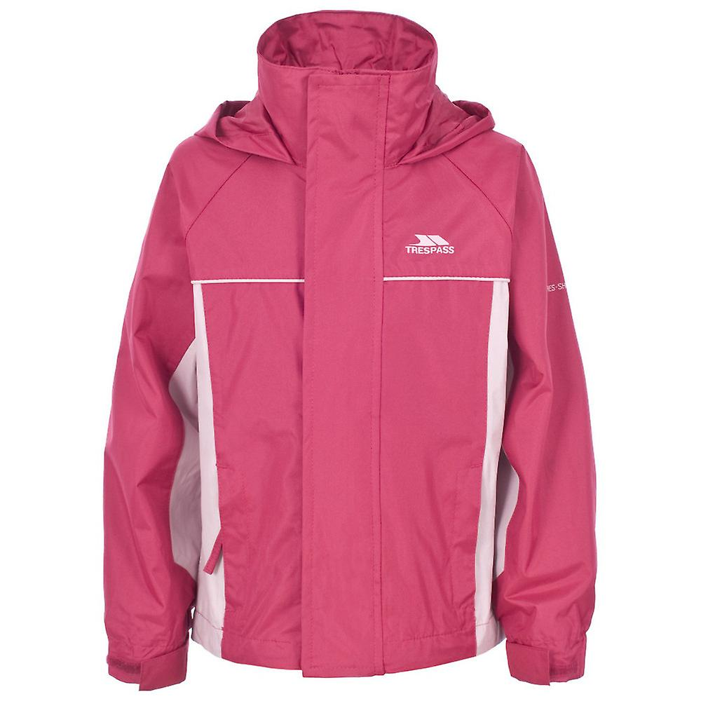 Trespass Girls Sooki Waterproof Windproof Hooded Jacket