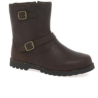 UGG Harwell Girls Leather Ankle Boots