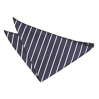 Marine & White Single Stripe Einstecktuch