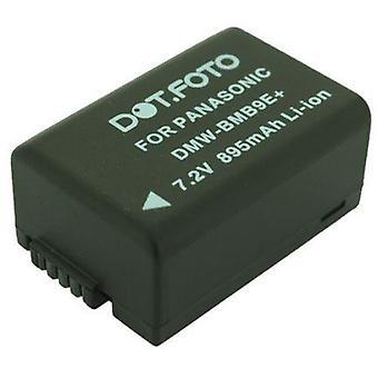 Dot.Foto Panasonic DMW-BMB9, DMW-BMB9E, DMW-BMB9PP erstatningsbatteriet - 7,4 v / 895mAh