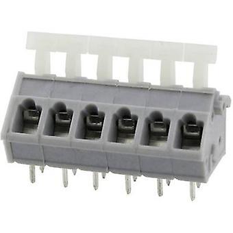 Degson DG243-5.0-06P-11-00AH-1 Veerbelaste terminal 3,31 mm² Aantal pinnen 6 Grijs 1 st(en)
