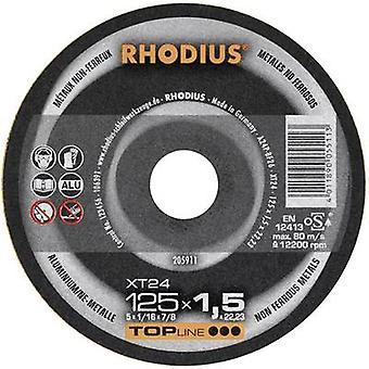 Rhodius XT 24 205911 Cutting disc (straight) 125 mm 22.23 mm 1 pc(s)