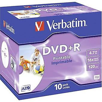 Verbatim 43508 Blank DVD+R 4.7 GB 10 pc(s) Jewel case Printable
