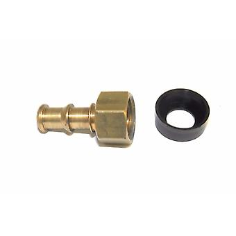 "Big A Service Line 3-72440 Brass Slip-Not Fitting 1/4"" x 1/4"" Barb To Adapter"