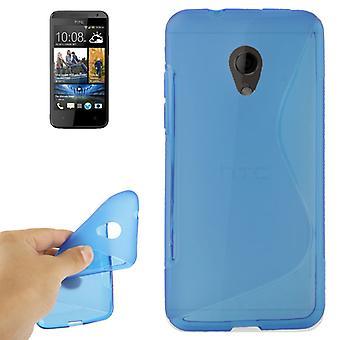 Eloisa asia TPU suojakotelo Kännykkä HTC Desire 700 blue