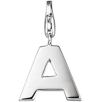 Single earrings charm letter A 925 sterling silver pendants for charm bracelet